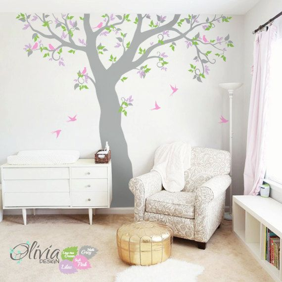 Large Forest Family Tree vinyl wall decal and by theOliviaDesign ...