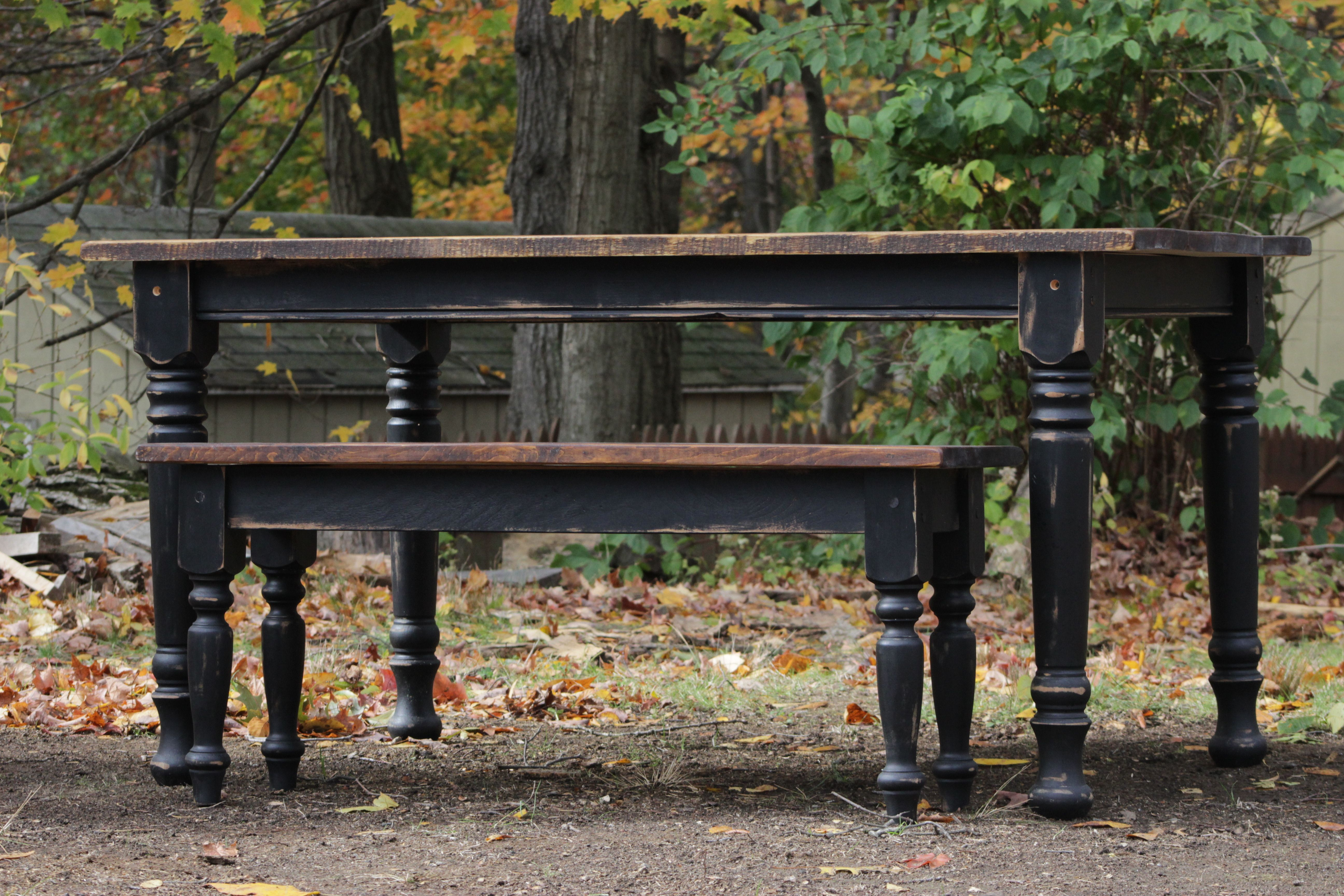 Wondrous Reclaimed Antique Pine Table With Black Distressed And Theyellowbook Wood Chair Design Ideas Theyellowbookinfo