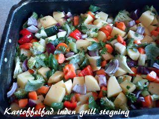 NATURLIGVIS-mad: Kartofler med grønsager på grillen, 2 metoder.