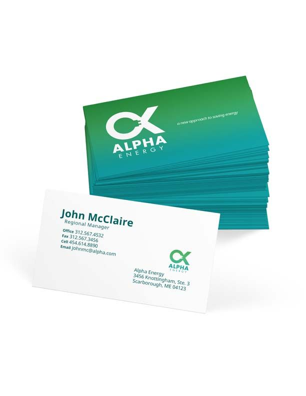 Business card concept for a holistic energy company. | Graphic ...