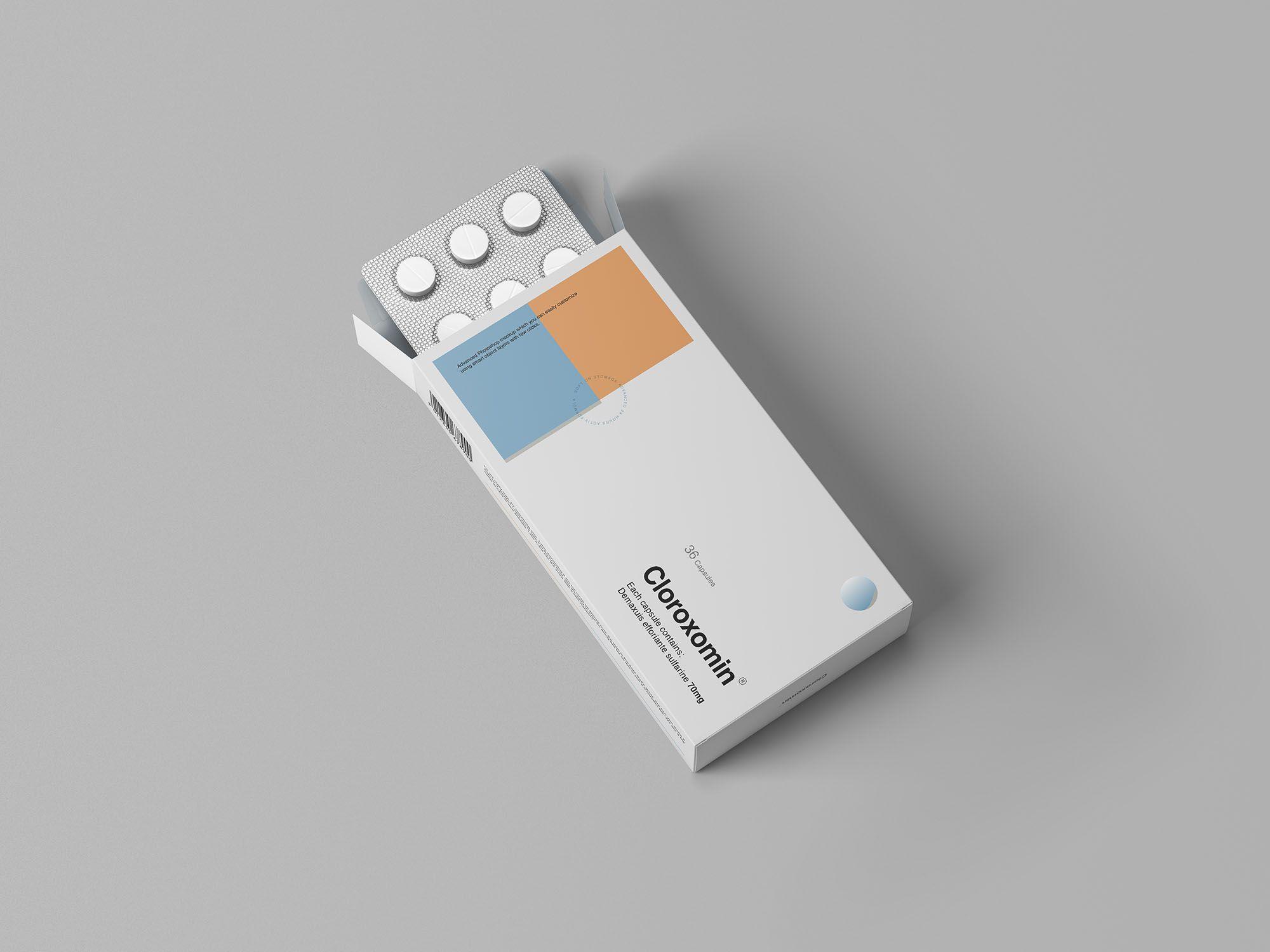 Download Pills Box Mockup