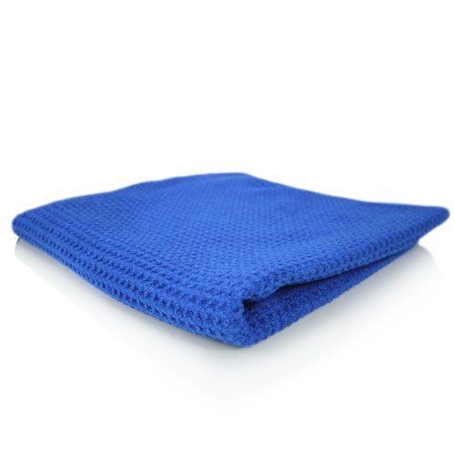 """Chemical Guys MIC_701_01 - Glass and Window Waffle Weave Towel, Blue 16"""" x 27"""" - http://autodetailingsupplies.juandastore.com/chemical-guys-mic_701_01-glass-and-window-waffle-weave-towel-blue-16-x-27/"""