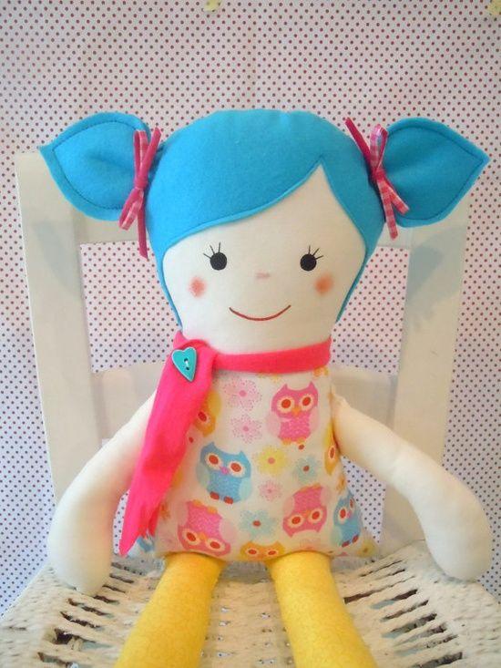 Fabric Doll Handmade Doll Rag Doll Cloth Doll By Tulimami On Http