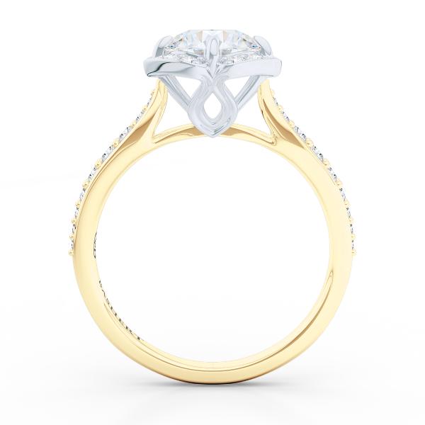 Design Your Wedding Ring Online | La Vie En Rose Halo Pinterest Rings Online Halo Engagement