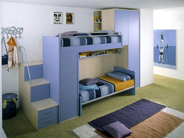 Quarto pequeno para duas crianças: como decorar e ganhar espaço ...