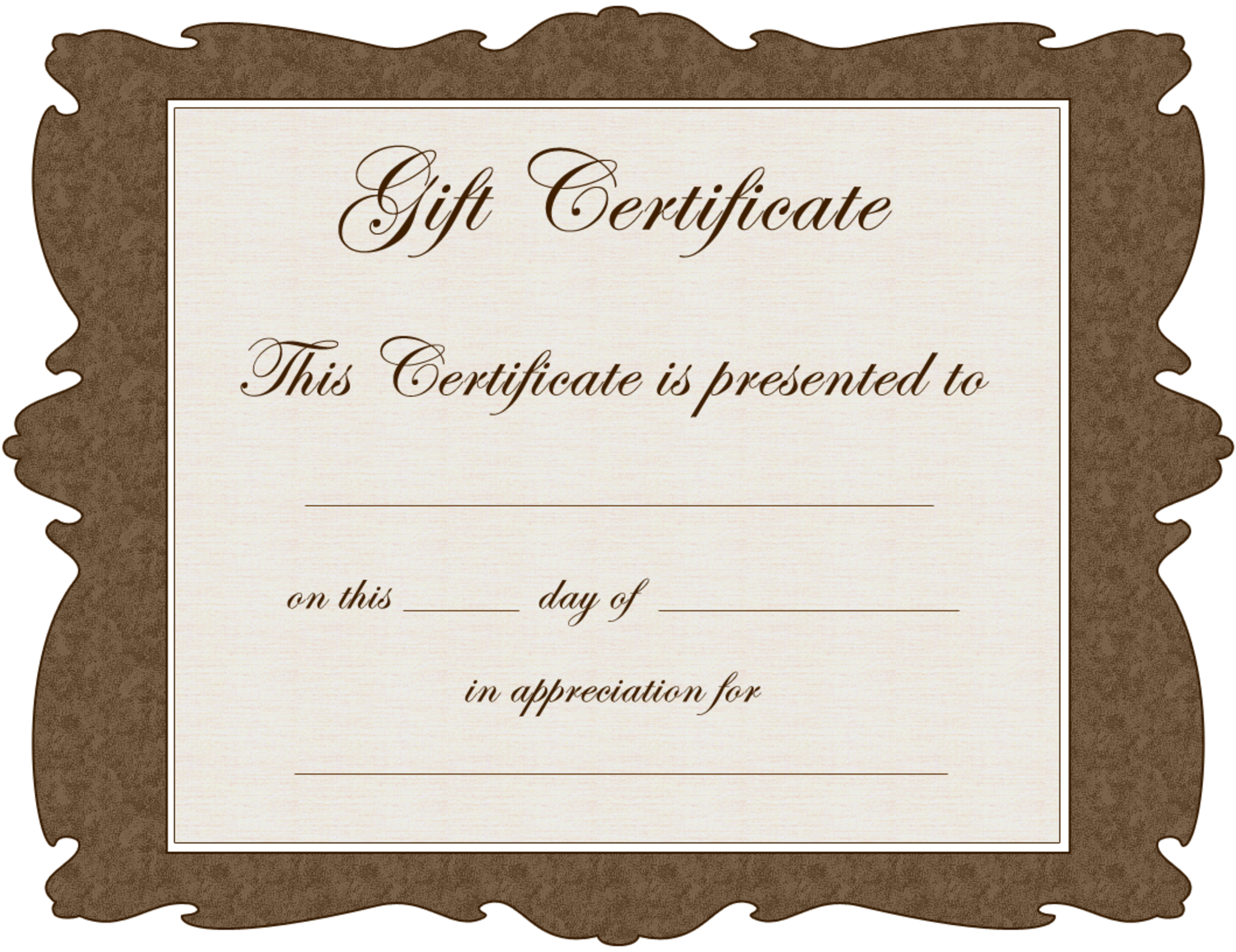 We appreciate you yolie pinterest free gift certificate free gift certificate template 1betcityfo Choice Image