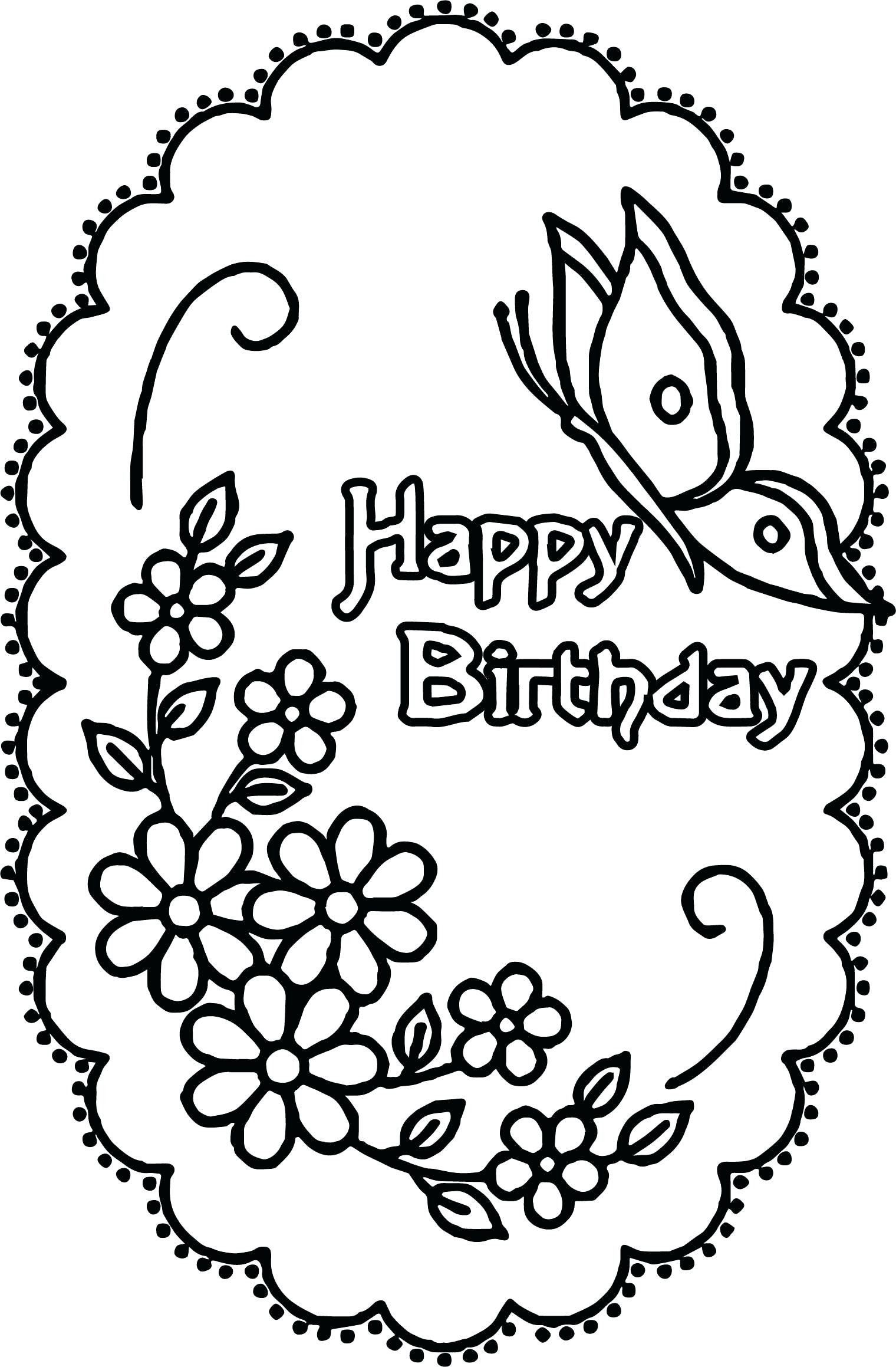 Birthday Coloring Pages For Grandma Coloring Pages Coloring Happy Birthday Grandm Birthday Coloring Pages Happy Birthday Coloring Pages Butterfly Coloring Page