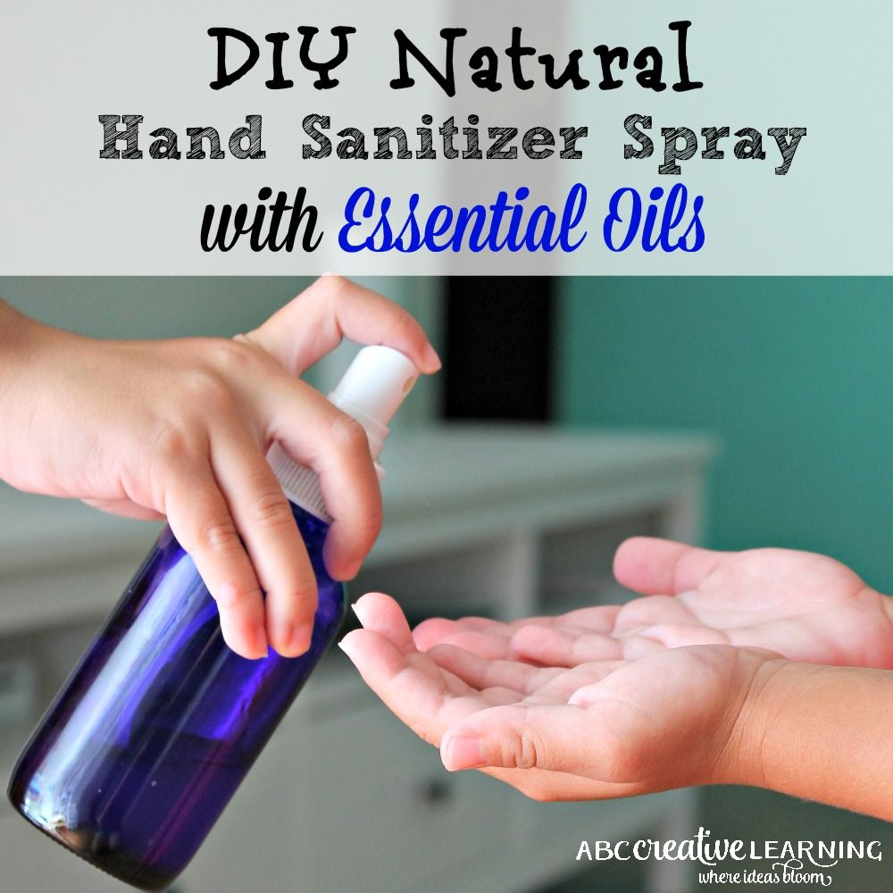 Diy Natural Hand Sanitizer Spray With Essential Oils Natural