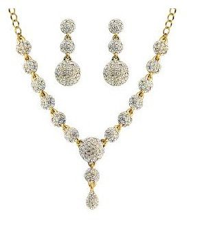 Gold Plated Fancy Necklace Set