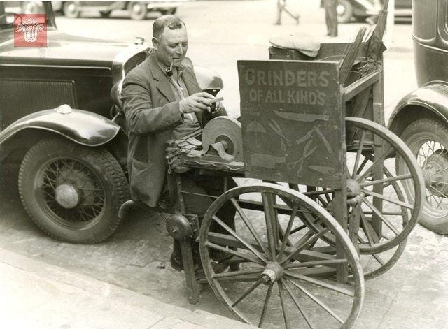 Itinerant Grinder, August 15, 1935, Worcester Massachusetts