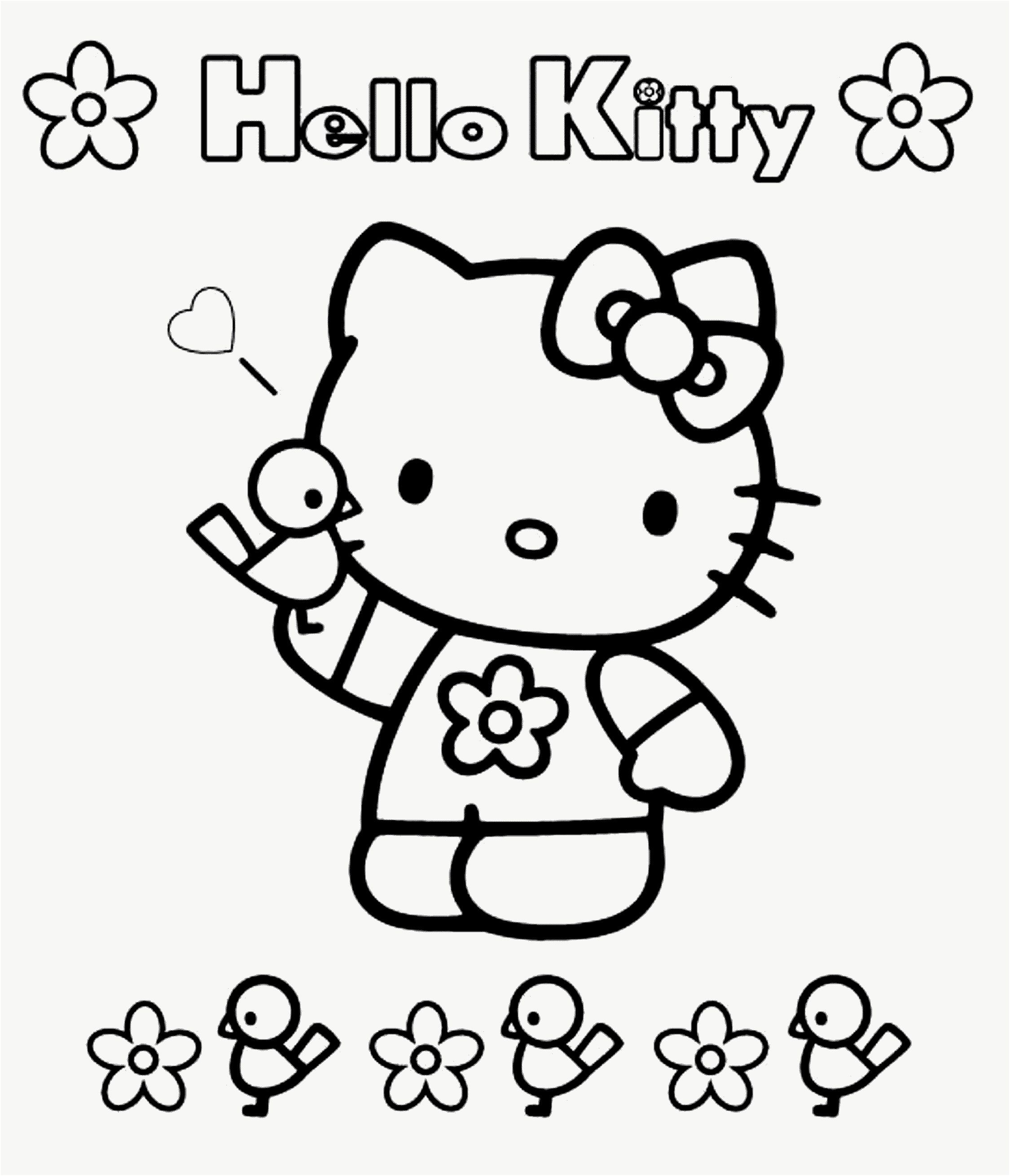 288 Génial Coloriage Enfant 28 Ans Image  Hello kitty coloring