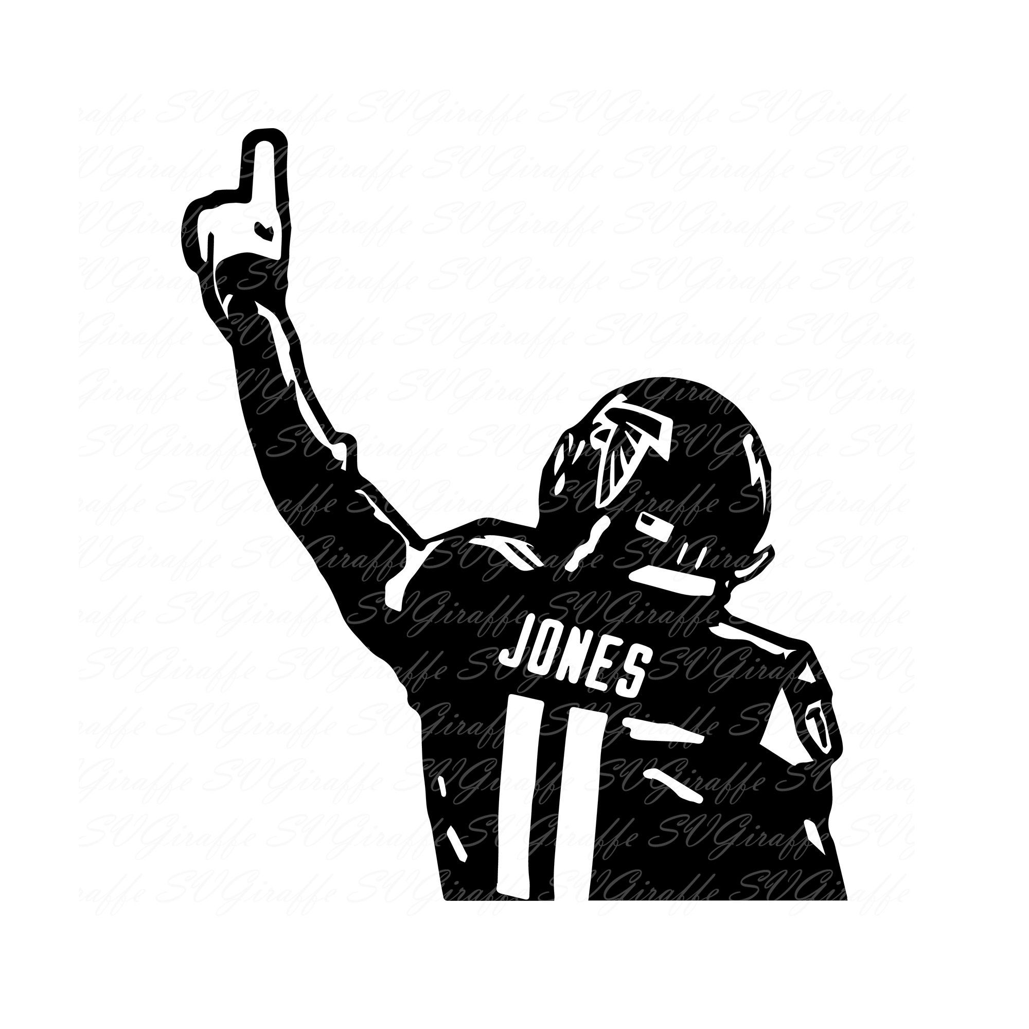 Julio Jones Svg Dxf Png Pdf Jpg Eps Files Atlanta Falcons Etsy In 2020 Julio Jones Atlanta Falcons Svg Atlanta Falcons