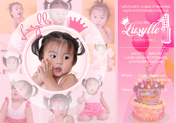 Lusille Birthday Tarpaulin On Behance Party In 2019