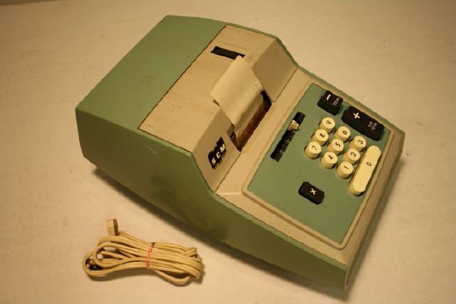 Adding Machine Smith Corona Figurematic Model 708 Perspective View