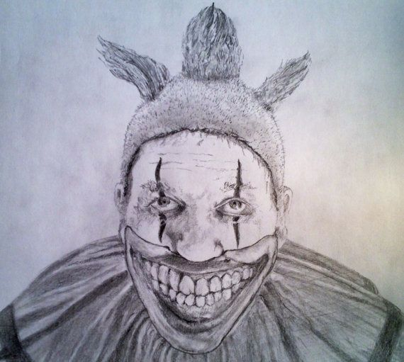 TWISTY THE CLOWN Original Pencil Drawing American by ...