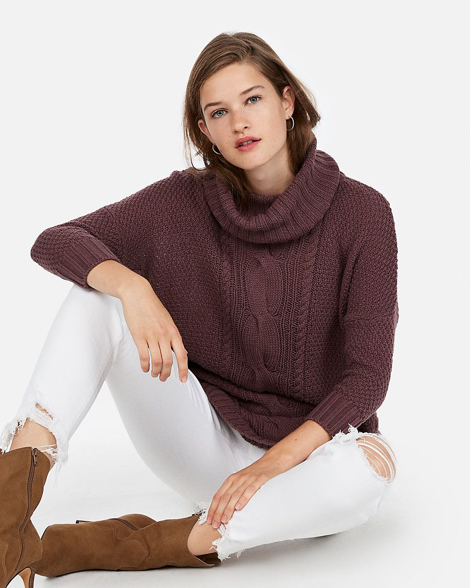 You Ll Be Cozy All Day Long In This Cable Knit Sweater That Features A Supersoft Cotton Blend A Cowl Neck And Circle Shop My Instagram Emily Gemma Cable