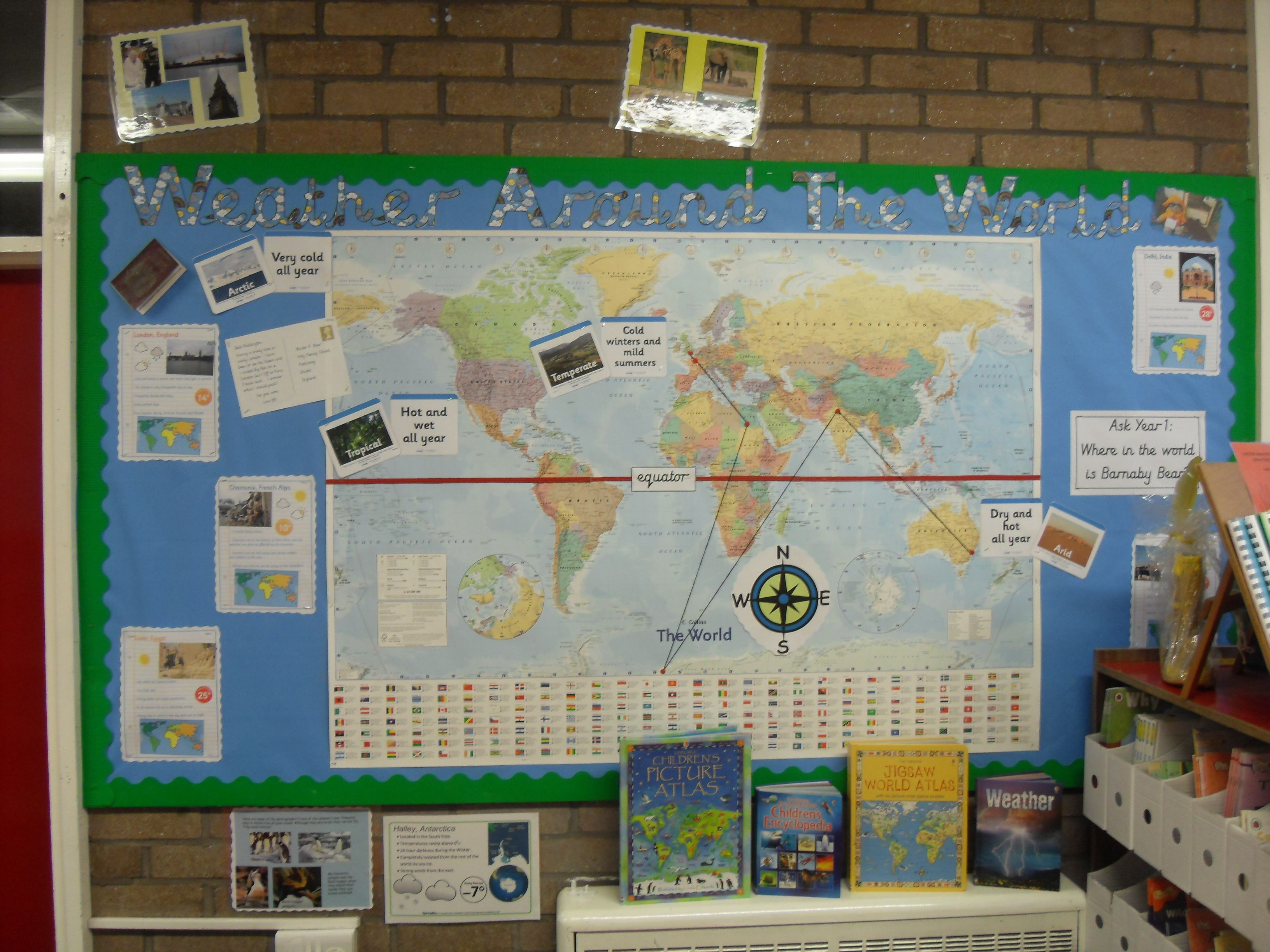 Map world ks1 picture ideas references map world ks1 weather around the world barnaby bear ks geography topic world climates gumiabroncs Image collections