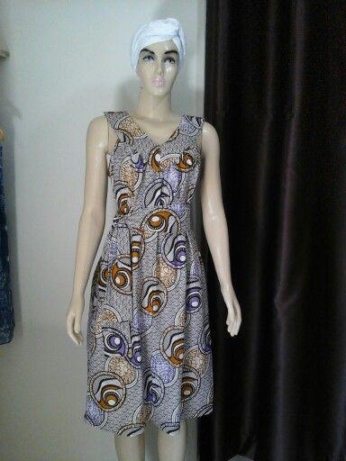 Elegante vestido de tecido africano