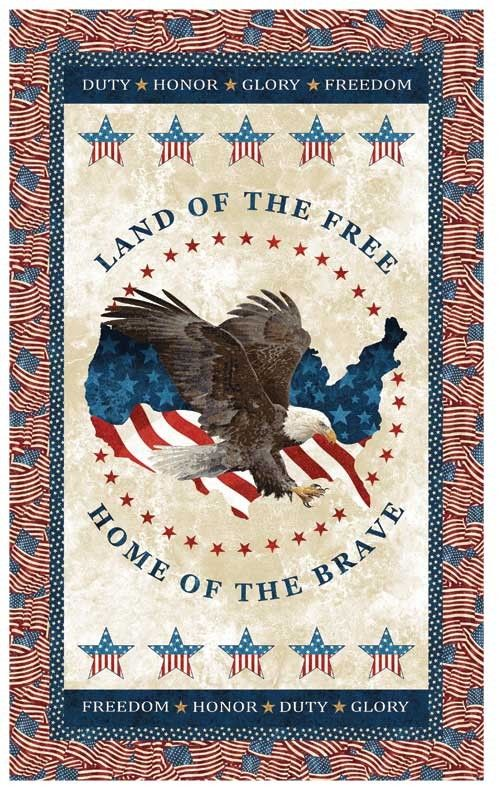 Land Of The Free Quilt Kit Eagle Quilt Patriotic Quilts