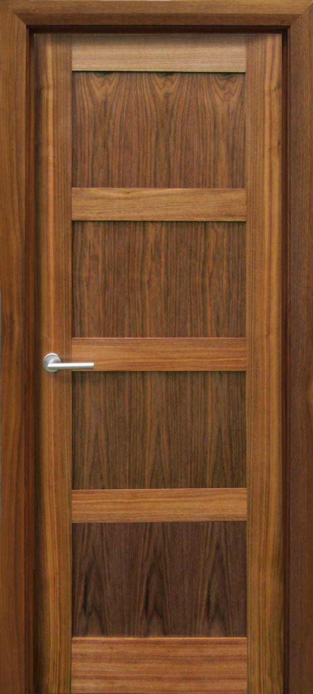 Trade Spec Contemporary 4 Panel Walnut Door 40mm Walnut Doors Contemporary Doors Walnut Floors