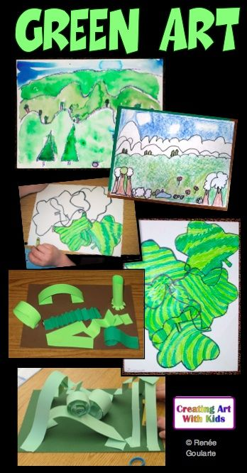 Art Lesson Bundle St Patricks Day Green
