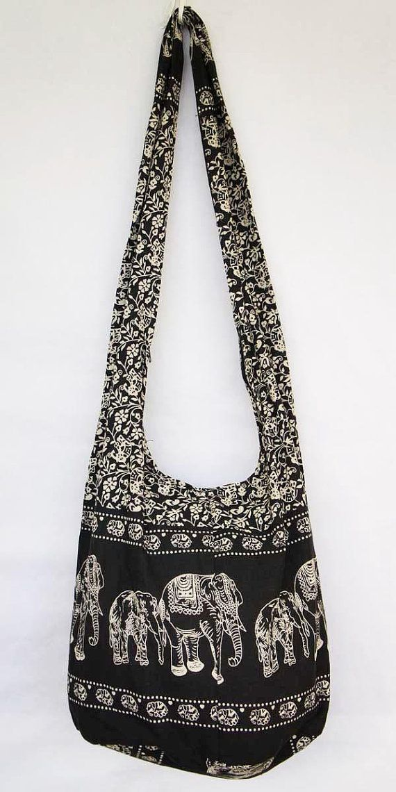 f7bc42170521 EXTRA PRICE!!! YAAMSTORE black elephant hobo bag sling shoulder ...