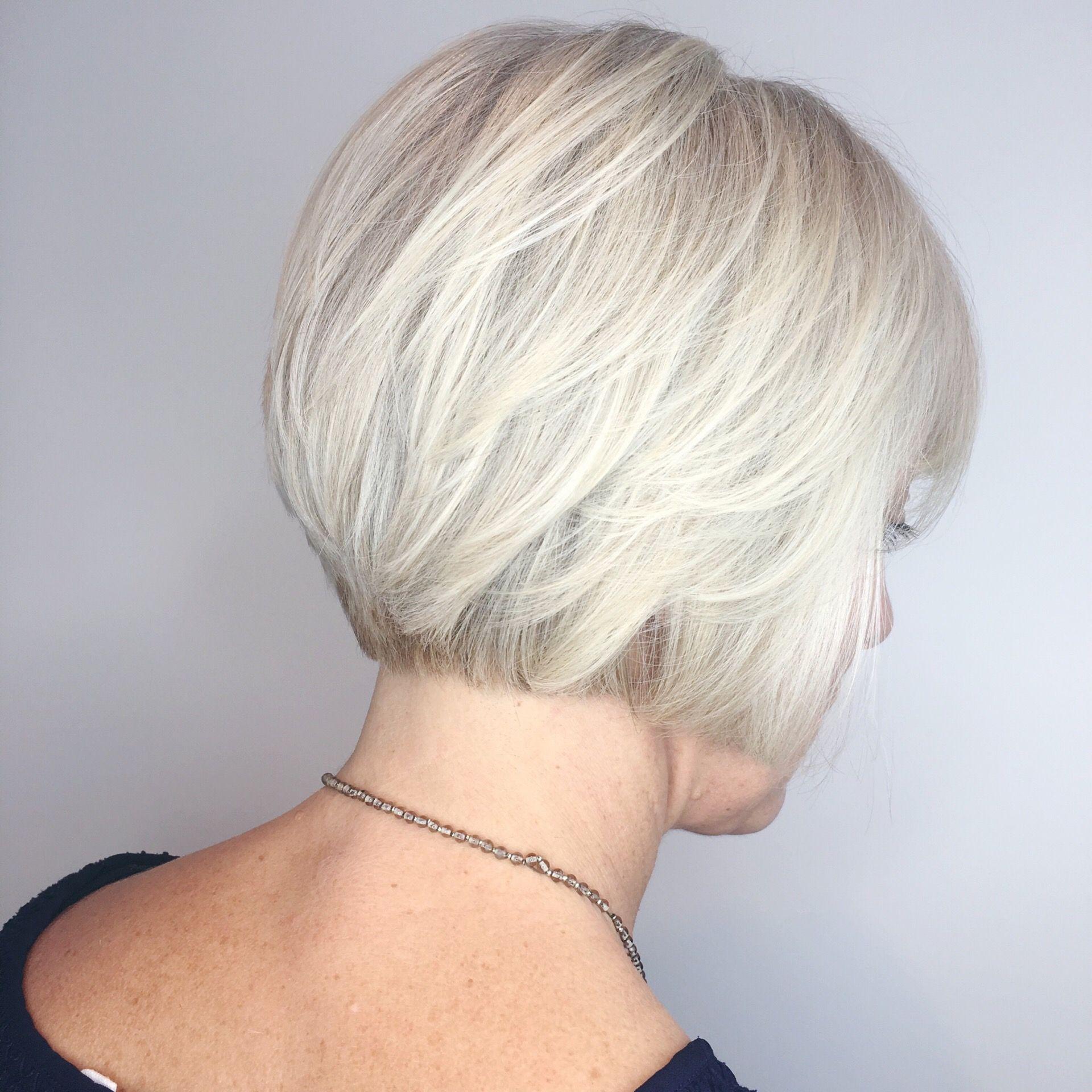 Platinum Blonde White Blonde Aveda Salon Bob Blonde Bob Icy