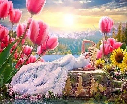 Красота от Бога, картина раскраска по номерам, на ...