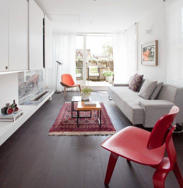 tapis persan dans le salon contemporain en 33 exemples superbes - Tapis Persan Moderne