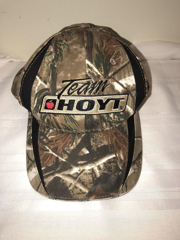 f2428ccaf57 Team Hoyt Archery Bow Hunting Hat Camouflage Strapback Cap Camo Bay Archery   Hoyt  BaseballCap