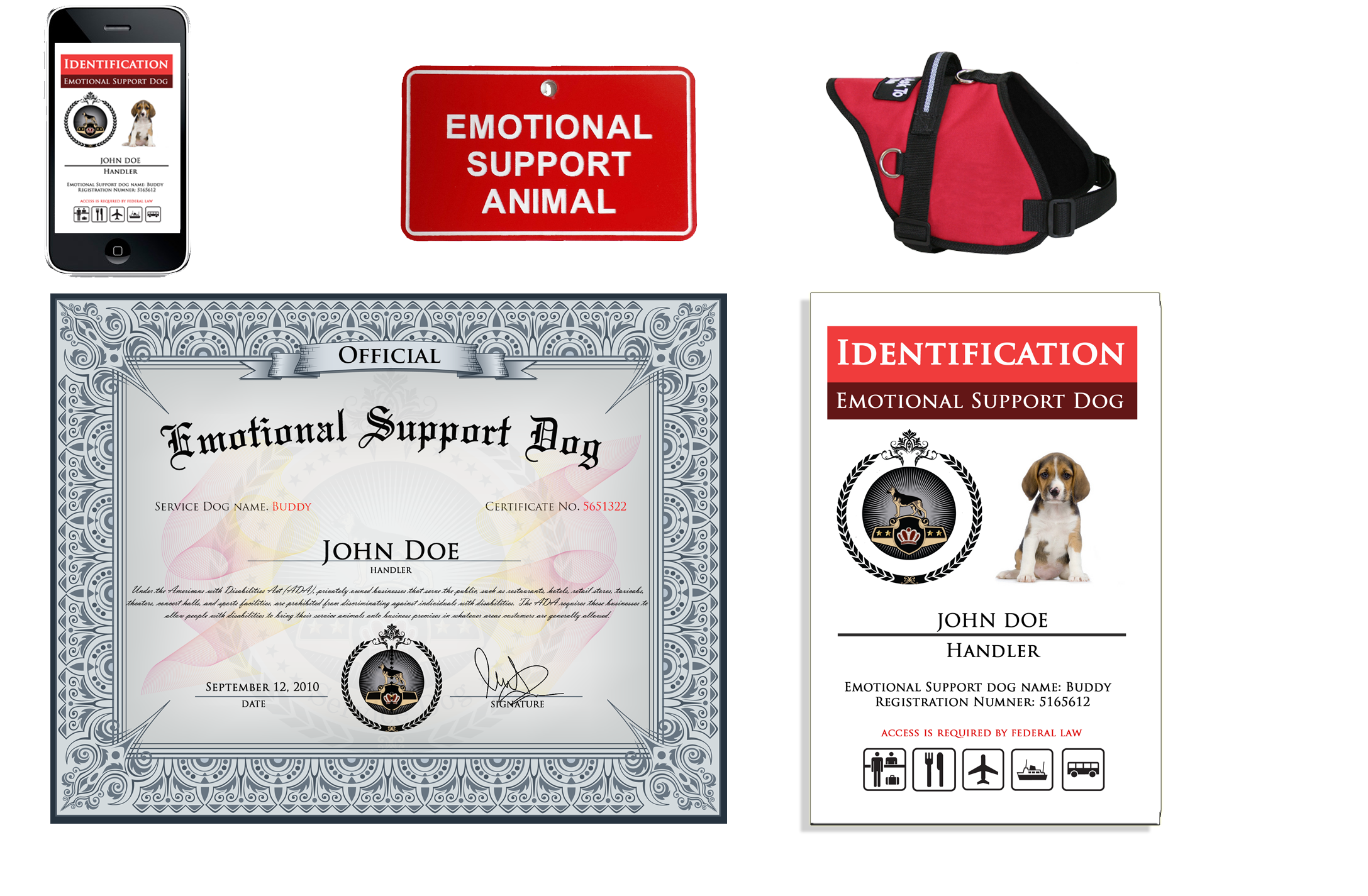 Register your dog as an Emotional Support Dog and the dog