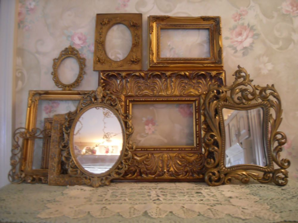 Gold Ornate Open Picture Frames Vintage Style~Wedding~ Romantic Lot ...