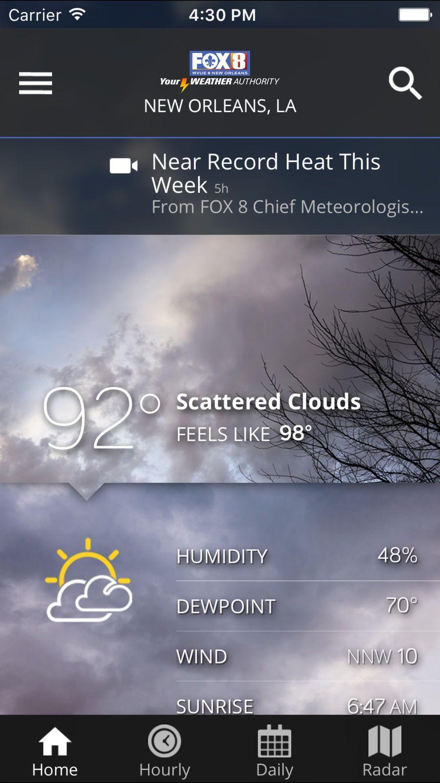 FOX 8 Wx #Weather#LLC#ios#News | digital design idea | Ios news, App