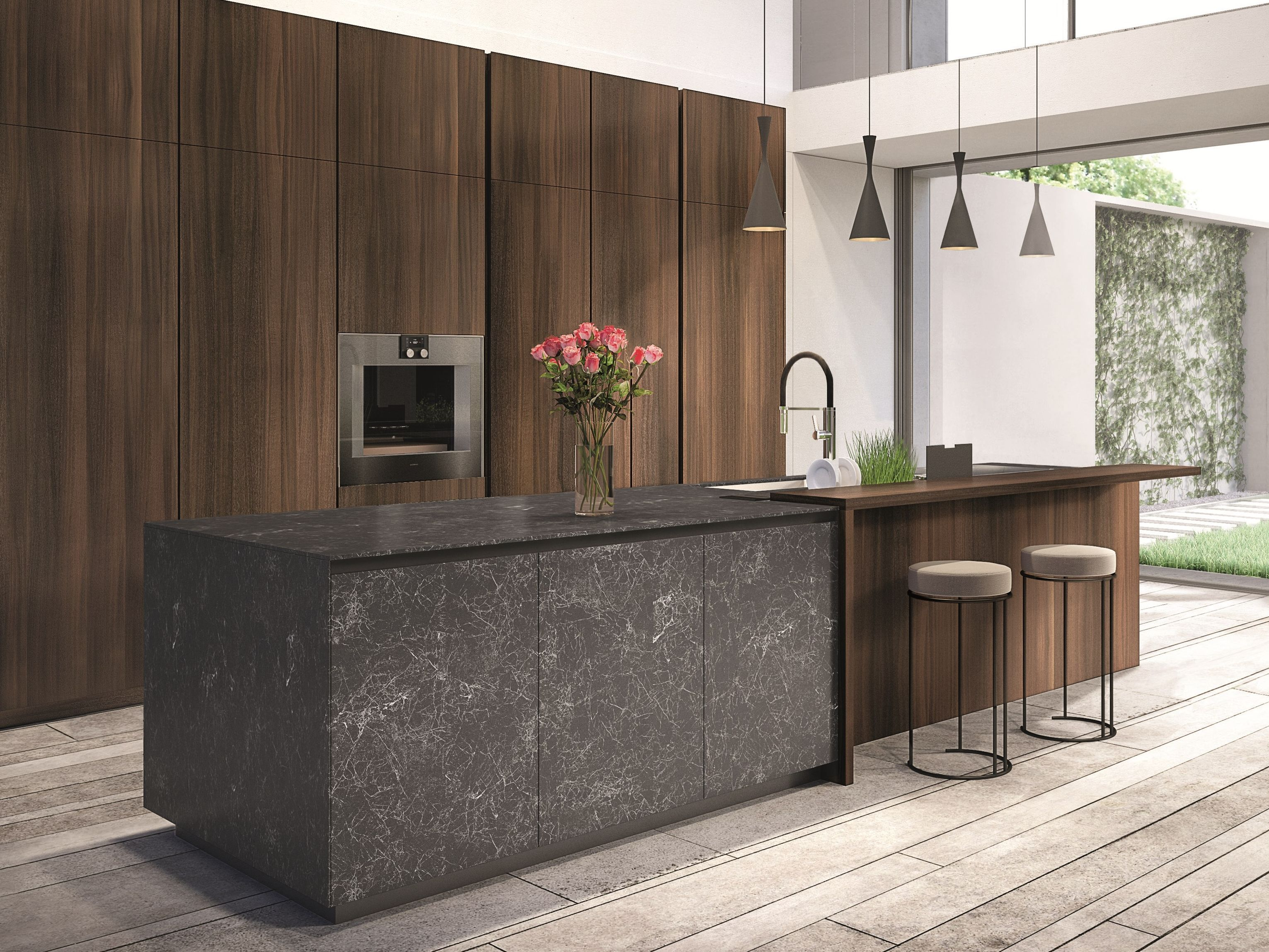 TELERO | Porcelain stoneware kitchen By Euromobil design ...