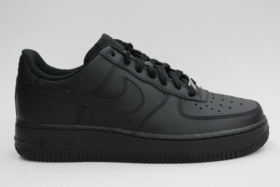purchase cheap e594a e949d Nike Air Force 1 Low All Black on Black Authentic Big Kids Size Shoes  Sneakers  FOLLOWITFINDIT