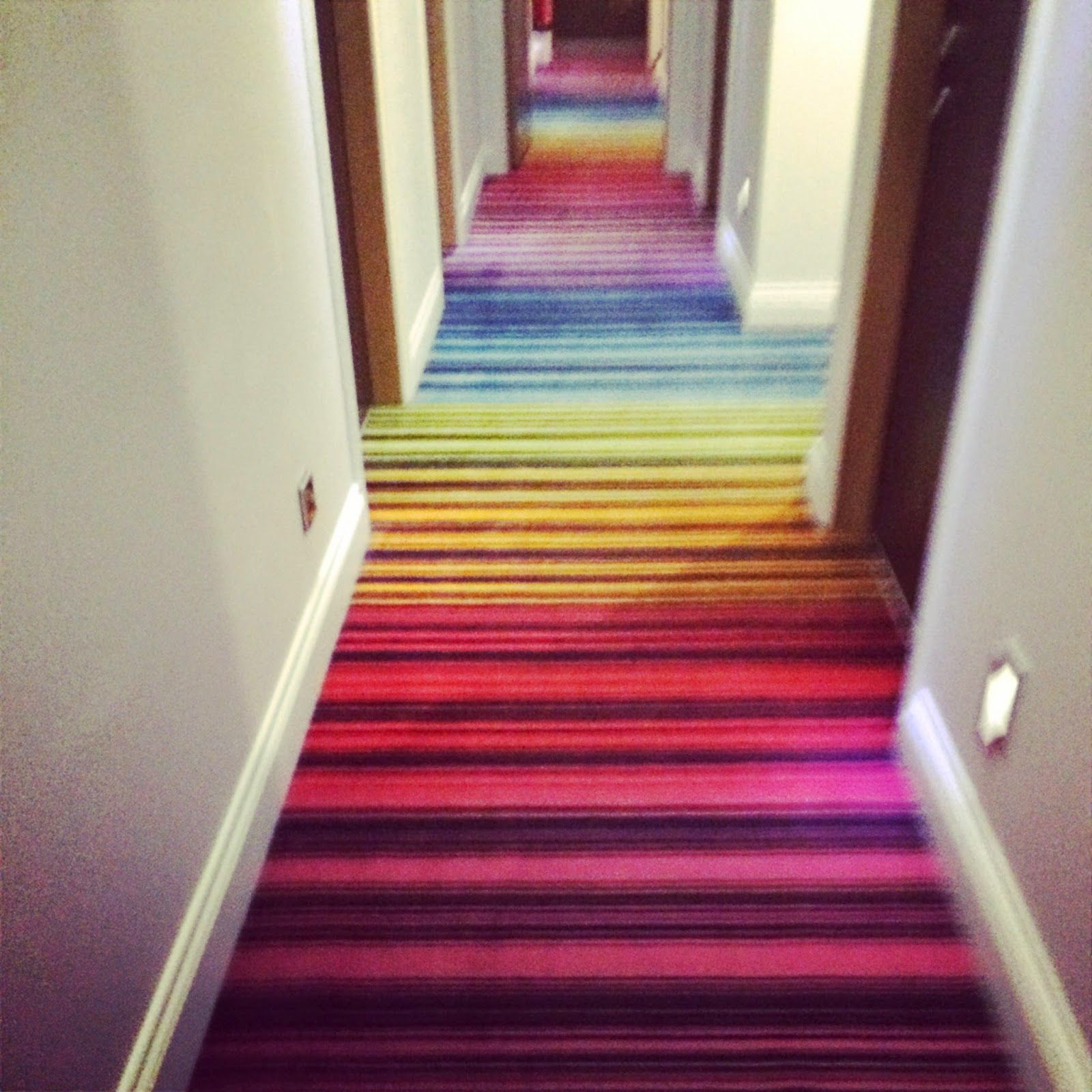 25 Unique Staircase Designs To Take Center Stage In Your Home: Rainbow Stair Carpet - Google Search