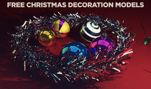 Free C4d 3d Model Christmas Decorations The Pixel Lab Christmas Decorations Christmas Bulbs Christmas Ornaments