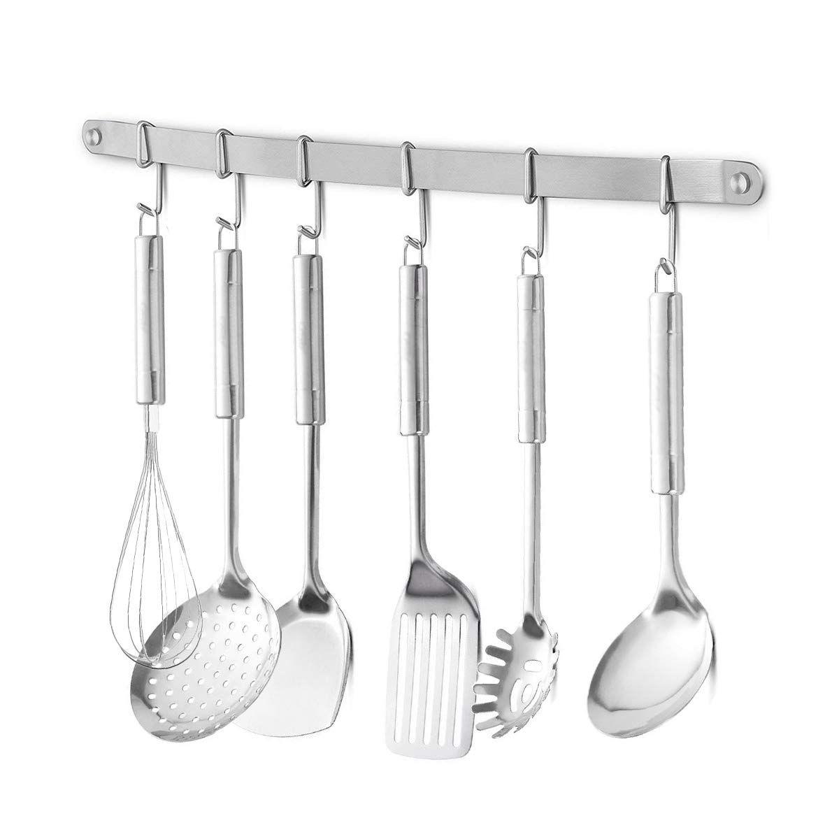 Eforwish Stainless Steel Kitchen Tools Utensil Holder Hanging Rack