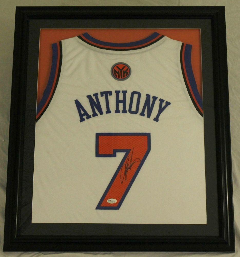 Carmelo Anthony Signed Knicks 23x27 Custom Framed Jersey (JSA ...
