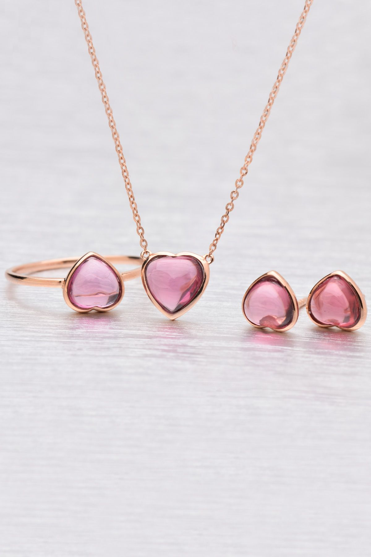 Garnet heart necklace set jewellery pinterest jewlery jewel