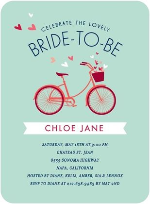 Signature white bridal shower invitations bridal bicycle front signature white bridal shower invitations bridal bicycle front stormy blue filmwisefo