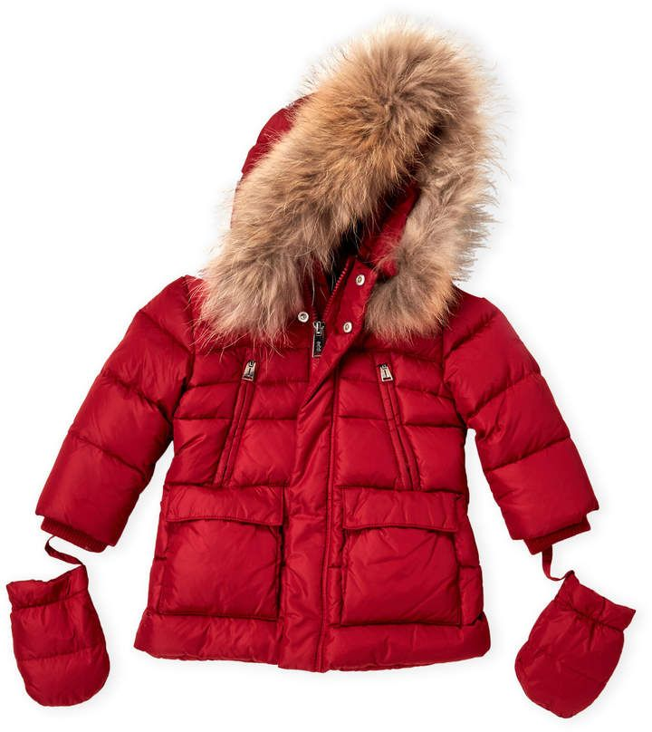 6186589c12e8 Newborn Infant Boys) Real Fur-Trimmed Down Jacket in 2018