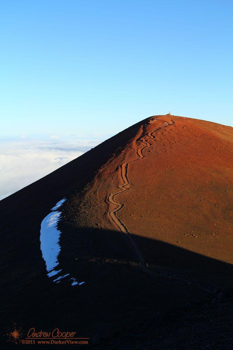 The true summit of Mauna Kea