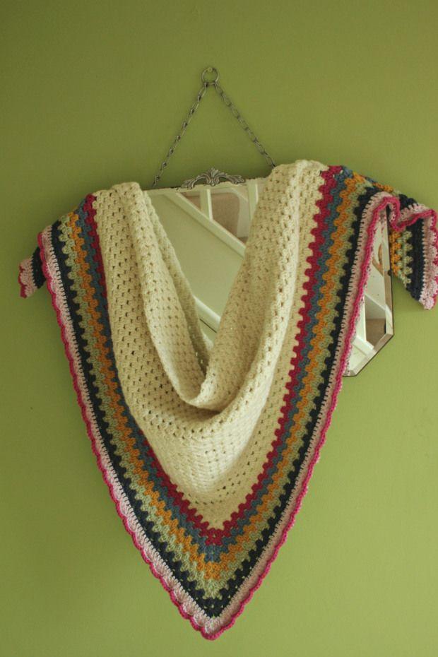 Really Easy Crochet Shawl A Simple Granny Triangle Pattern Shawl
