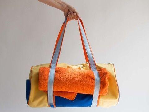 Yoga Strand Tasche mit Klettverschluss - Nähanleitungen bei Makerist ...