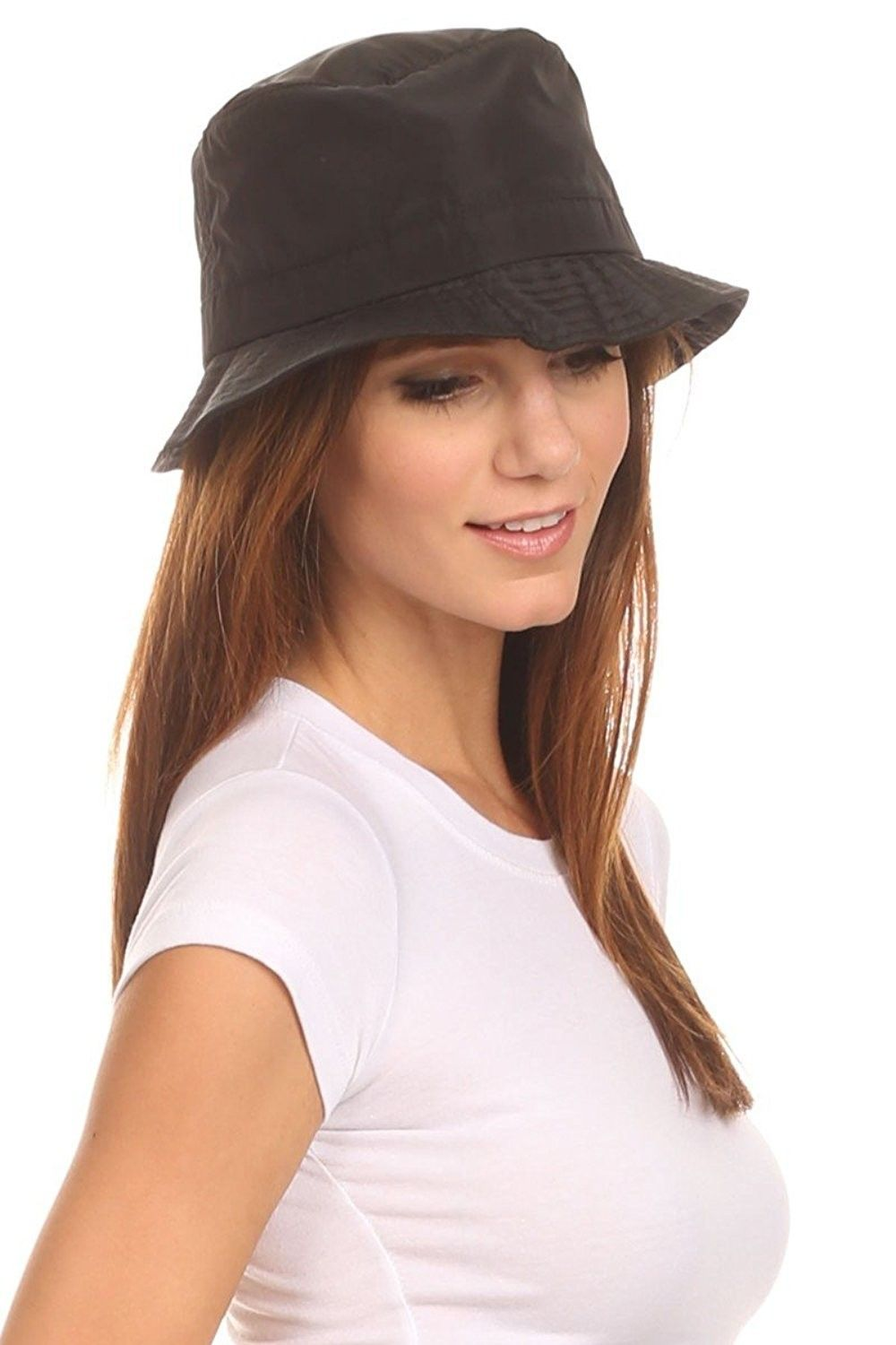 2a4ee4bc31a1bd LL Unisex Packable Rain Hat Lightweight Year Round Use - 2 Sizes for Best  Fit - Black Bucket - C912HZ13BV3 - Hats & Caps, Women's Hats & Caps, Rain  Hats ...