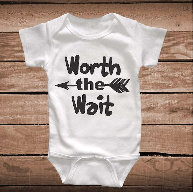 Cute Quotes For New Born Baby Boy: Worth The Wait Cute Baby Onesie