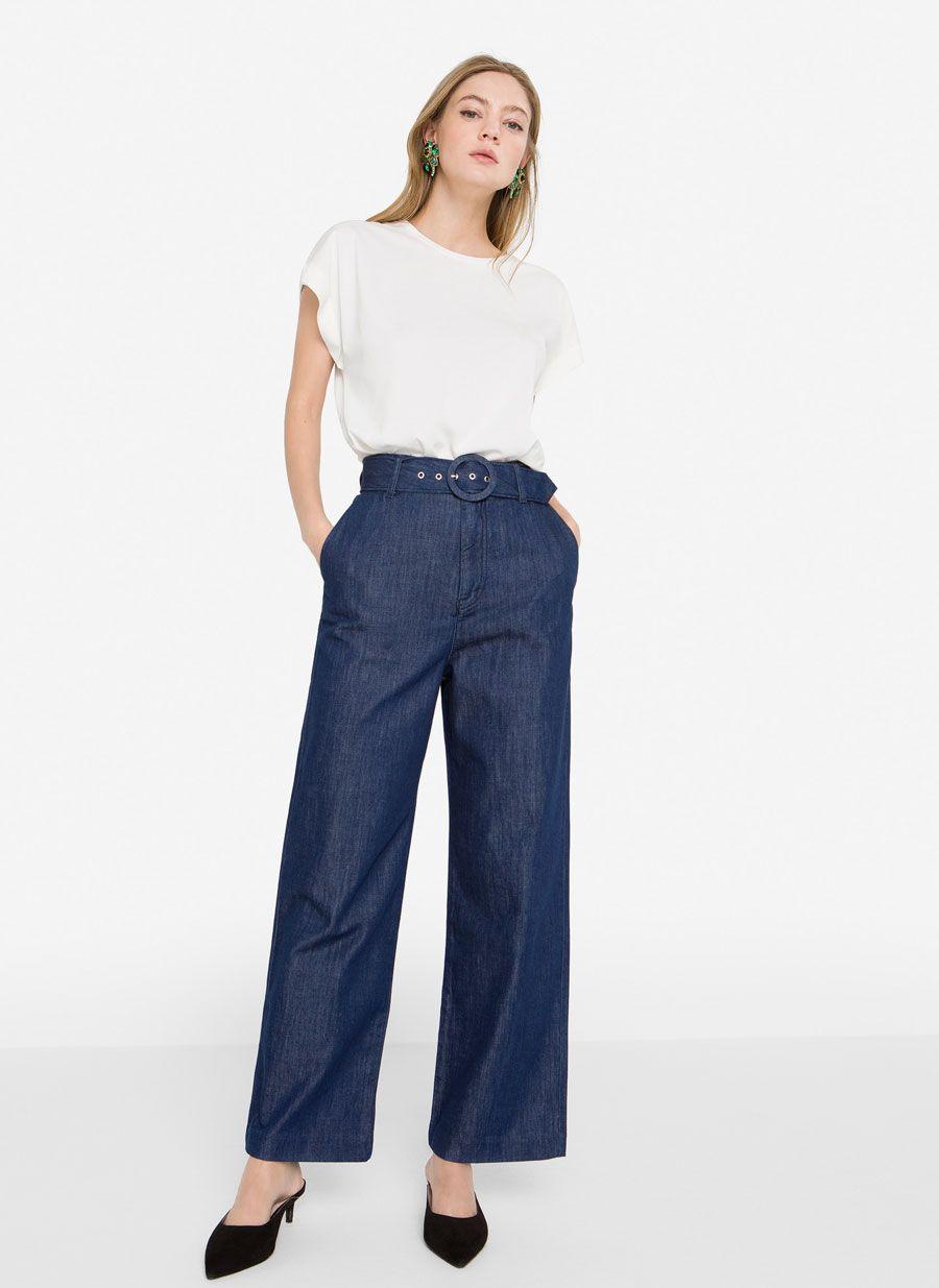 Jeans culotte - Ver todo - Pantalones - Colección - Uterqüe España ... 4cc537d45db