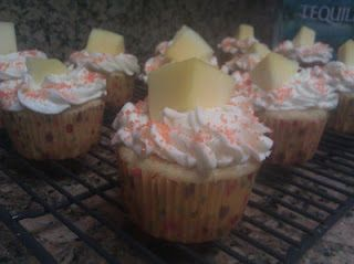 Mango Margarita Cupcakes with Mango Tequila Buttercream Frosting