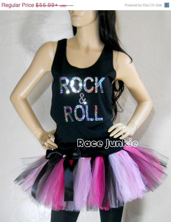 labor day sale rock and roll tutu and tank set on etsy marathon outfit ideas. Black Bedroom Furniture Sets. Home Design Ideas